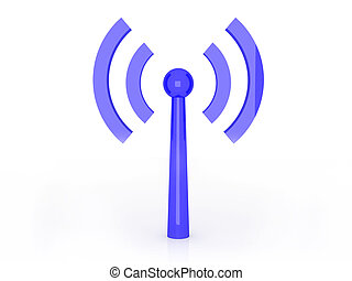 Wireless connection - 3D rendered Illustration. Isolated on...