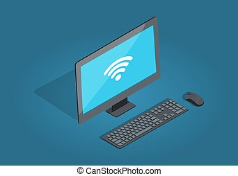 Wireless Connection Computer Accessories Cartoon