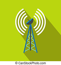 Wireless connection flat icon