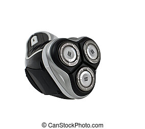 electric shaver - wireless electric shaver front view on ...