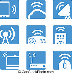 Wireless equipment buttons