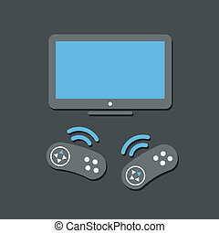 Wireless game controllers and TV