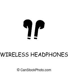 Wireless Headphones flat vector icon