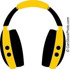 Wireless headphones icon isolated