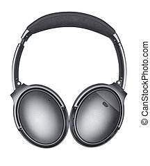 wireless headphones isolated with clipping path