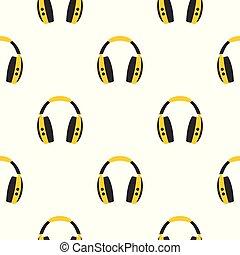 Wireless headphones pattern seamless