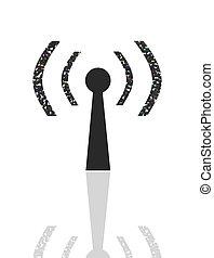 Wireless Hot Spot sign - portrait of wireless 802.11 hot...