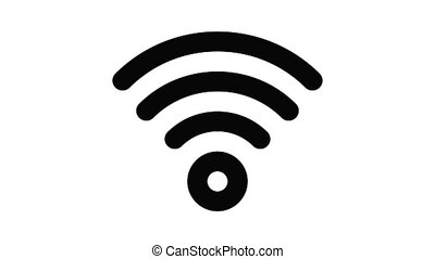 Wireless icon animation outline best object on white background