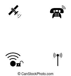 wireless icon set