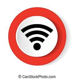 Wireless Icon. Vector icon