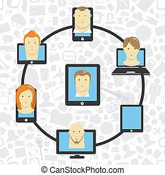 Wireless information transfer across modern gadgets