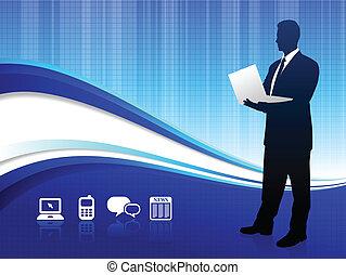 Wireless internet background