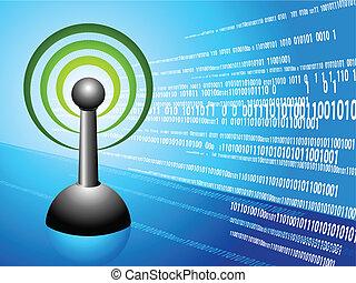 Wireless internet modern Background