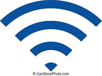 Wireless internet network symbol