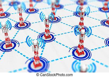 wireless kommunikáció, technológia