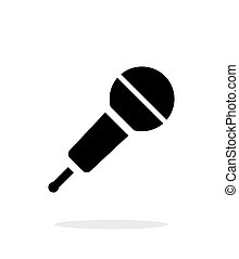 Wireless microphone icon on white background.