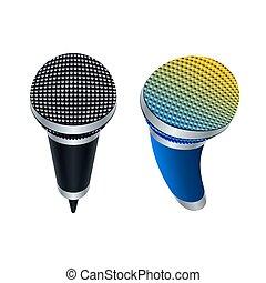 Wireless microphones, vector illustration