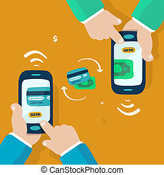 wireless money transfer - mobile money transfer, doodle...