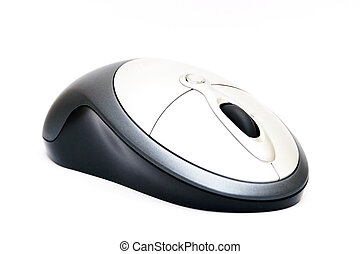 Wireless Mouse - Isolated wireless mouse. Logo removed