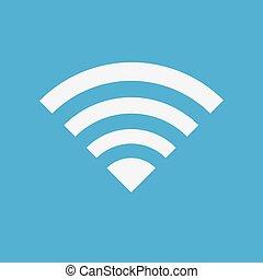 Wireless Network Symbol of wifi icon, vector illustration.