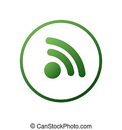 Wireless Network Symbol. Wifi icon illustration. Internet, signal, network. Clean and modern style