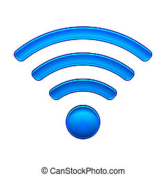 Wireless Network Symbol wifi icon vector illustration...