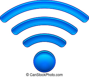 Wireless Network Symbol wifi icon vector illustration isolated on white. EPS10 modes