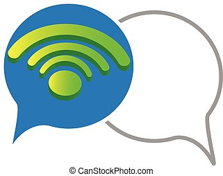 (wireless, network), wifi, icona, 3d
