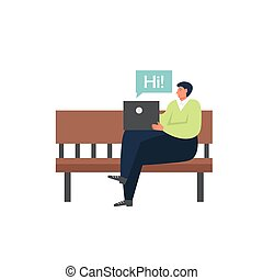 Wireless networking technology, vector flat isolated illustration