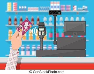 Wireless payment in supermarket