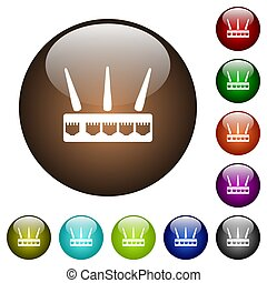 Wireless router color glass buttons