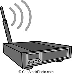 Wireless Router Illustration