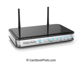 Wireless router isolated