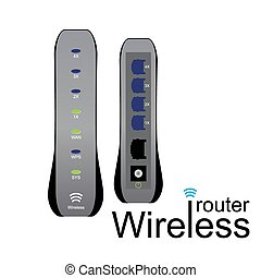 wireless router - vector illustration of wireless modem....