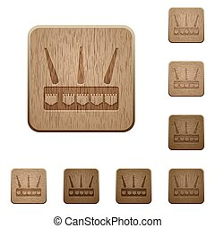 Wireless router wooden buttons