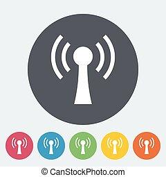 Wireless single flat icon