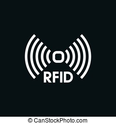 wireless tag used for RFID purposes, Vector graphic
