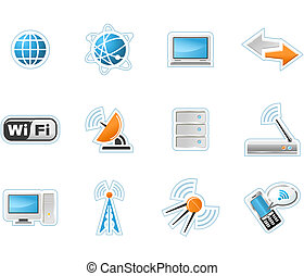 Wireless Technology icons - twelve computer icons