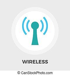 Wireless vector flat icon