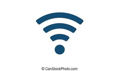 Wireless WiFi Symbol isolated Video Animation - Wireless...