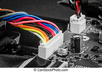 Wires on a microcircuit board
