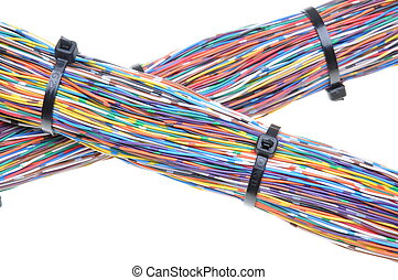 Wires with cable ties