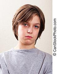 wirkliche leute, portrait:, ernst, jugendlicher, junge