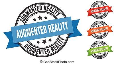 wirklichkeit, band, set., zeichen, etikett, stamp., ...