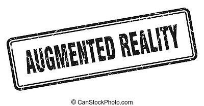 wirklichkeit, grunge, zeichen, weißes, quadrat, stamp., ...
