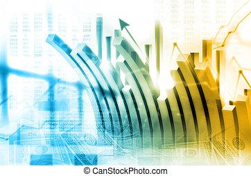 wirtschaftlich, stock market, schaubild