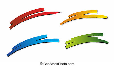wischer - illustration of four different and colorful ...