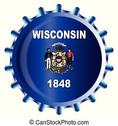Wisconsin Bottle Cap