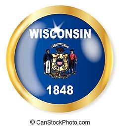 Wisconsin Flag Button
