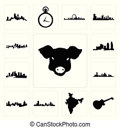 wisconsin, jogo, flórida, ilha, houston, rosto, imagem, kansas, índia, mapa, porca, pittsburgh, skyline, les, longo, ícones, skyline, paul, cidade